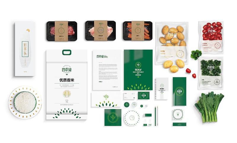 包装设计插画设计包装盒内衬包装袋食品大米茶叶产品包装结构设计
