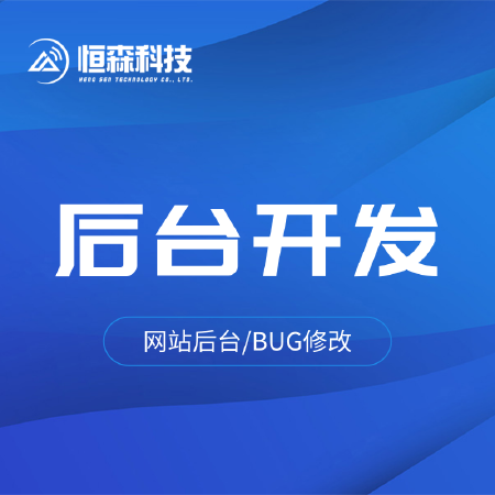 后台开发网站管理开发企业ERP开发BUG修改