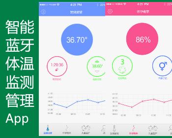 智能藍牙體溫監測管理吃藥提醒高燒報警App