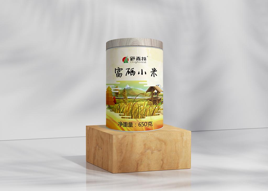 野森林·罐装小米包装设计