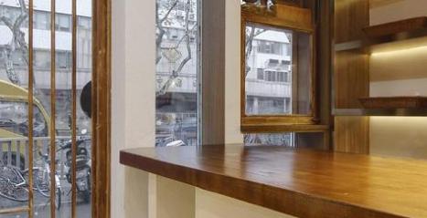 日系原木风榆木餐厅装修设计