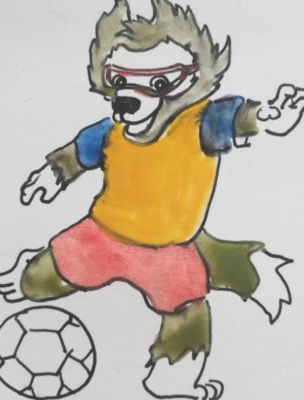 足球吉祥物設計簡筆畫