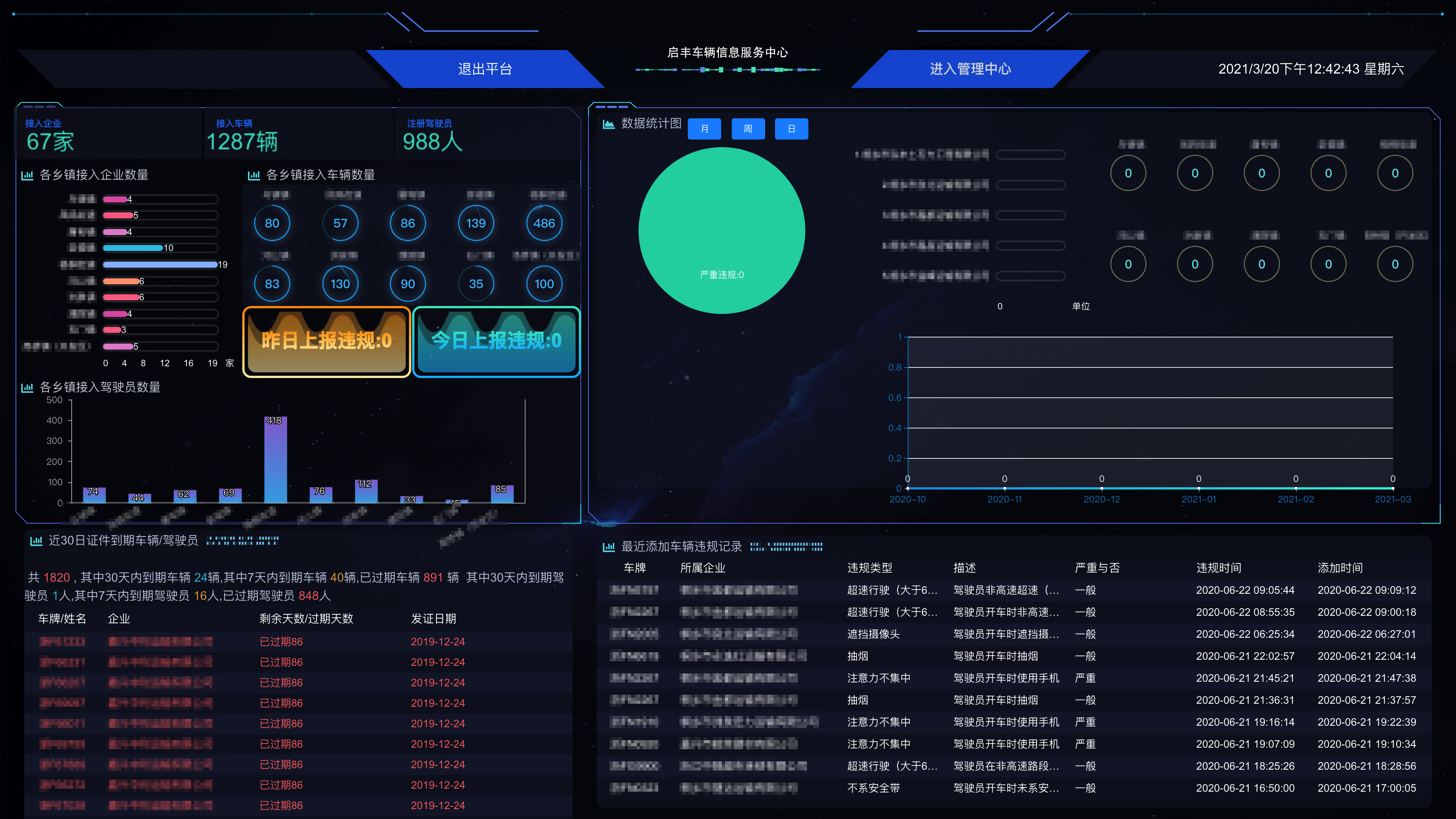 启丰工程车信息服务平台软件