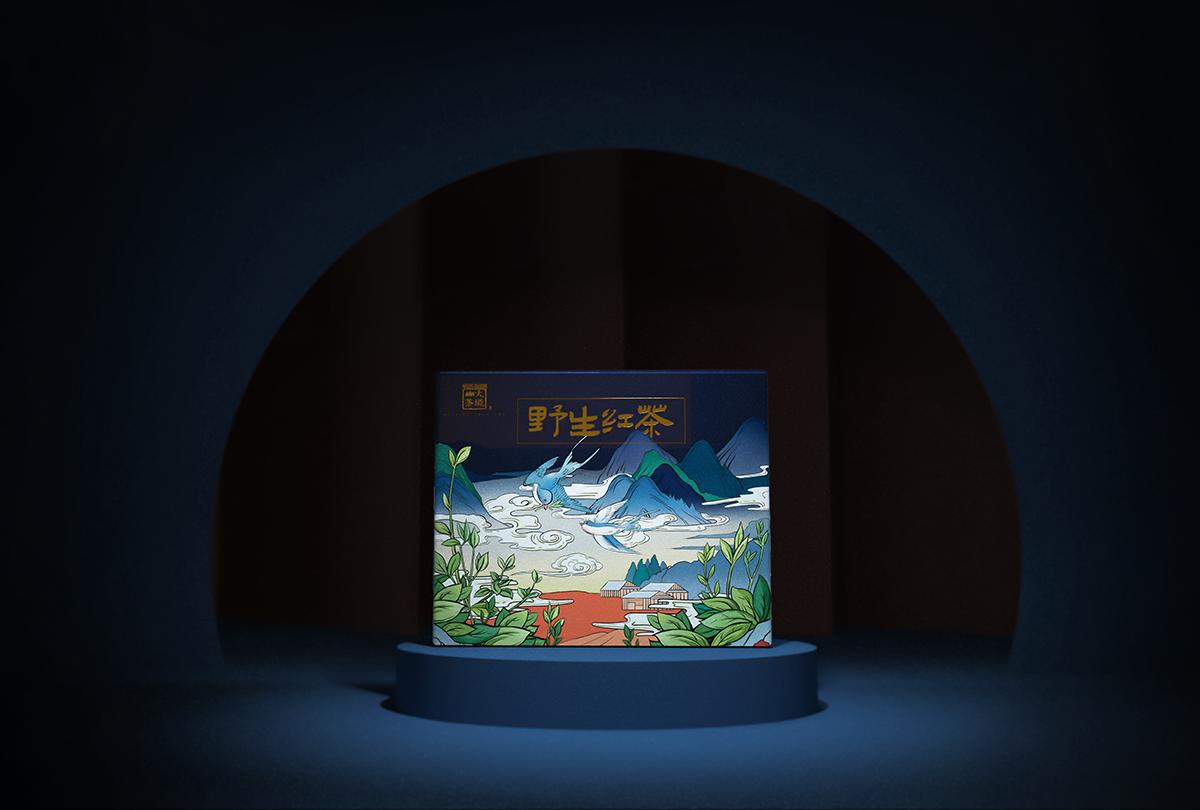 大境山野生红茶包装设计