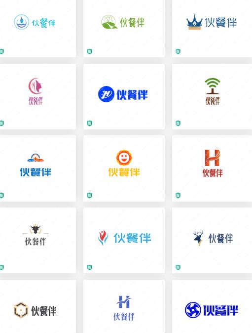餐厅logo设计案例合集分享:伙餐伴