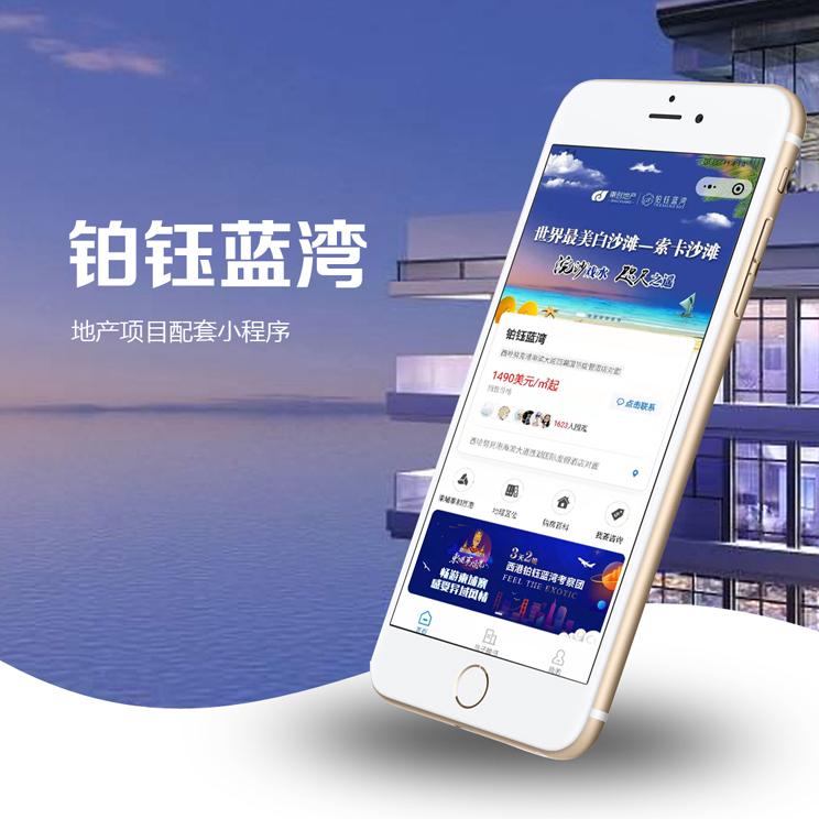 铂钰蓝湾东南亚地产项目配套小程序开发
