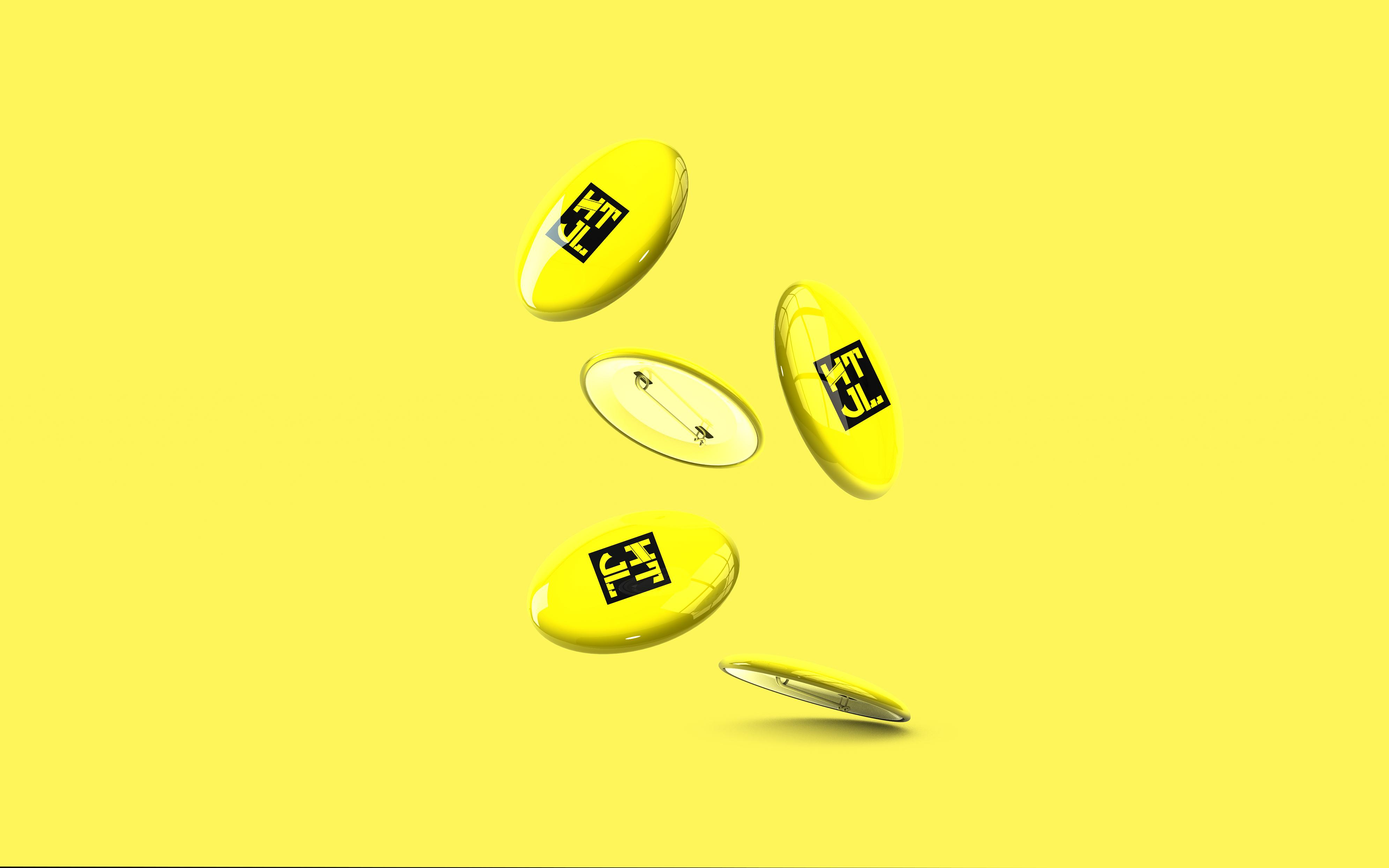 HTJL黑黄风格vi设计