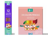 彩铅笔套装包装盒设计