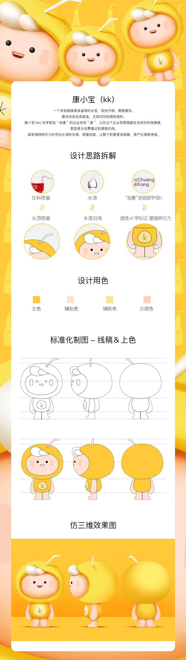 食品饮料企业卡通形象设计