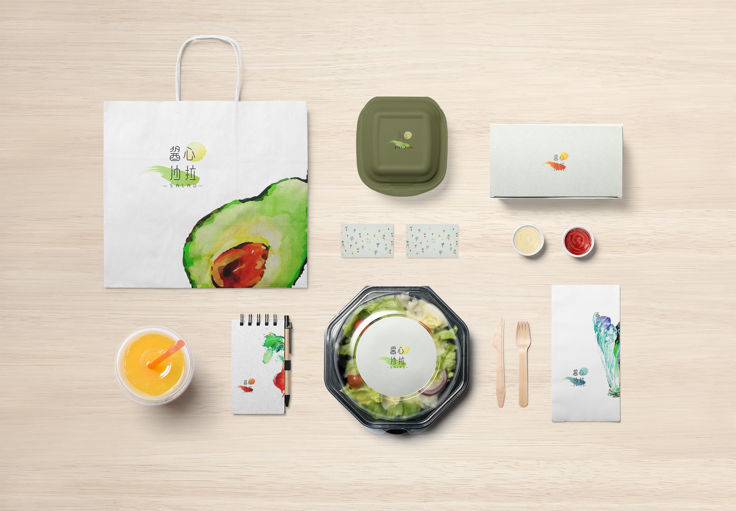酱心沙拉logo设计/包装设计案例赏析