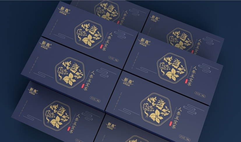 人参五宝茶礼盒设计