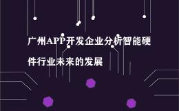 广州APP开发企业分析智能硬件行业未来的发展