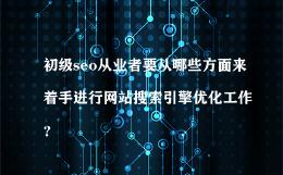 初级seo从业者要从哪些方面来着手进行网站搜索引擎优化工作?