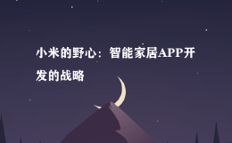 小米的野心:智能家居APP开发的战略