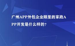 广州APP外包企业眼里的家政APP开发是什么样的?