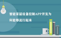 智能家居设备控制APP开发为何能够流行起来