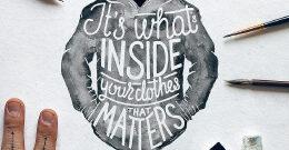 漂亮的水彩手绘创意字体设计欣赏