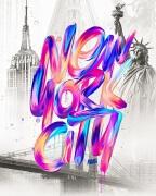 34款国外嘻哈风视觉冲击创意手绘字体设计欣赏