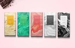 精美的质感纹理:Bendito Choco多种口味巧克力包装新颖