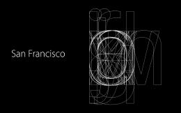 优秀苹果旧金山简洁创新字体的秘密欣赏