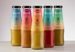 Blend多口味浓缩果汁饮料夏季饮品包装设计