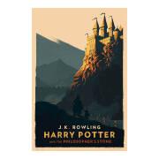 设计大作:Olly Moss复古风格哈利波特图书封面设计