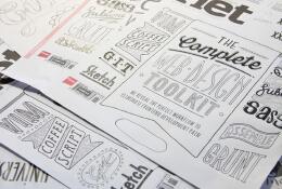 Tobias Hall时尚风格创意手绘字体设计作品欣赏