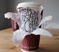 咖啡杯上的精美创意艺术字体设计欣赏