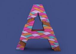 Angélica Porfirio梦幻图案3D艺术字母设计