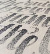 设计大作:Xavier Casalta惊人的点状手绘文字设计