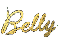 时尚的国外知名Belly餐厅视觉形象设计