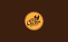 手绘插画风格品牌设计欣赏:PopChicken餐厅
