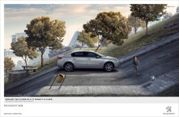 上坡如履平地的标致508房地产广告设计
