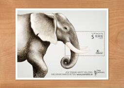 时尚大气的动物保护邮票设计欣赏