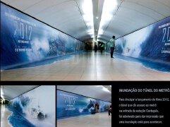 电影《2012》地铁站个性创意广告