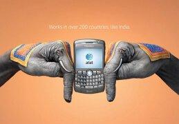 国际漫游移动电话手工艺术平面广告设计欣赏