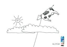 进口牛奶儿童画创意广告设计欣赏