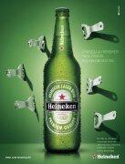 PS作品欣赏:Heineken啤酒创意平面广告设计
