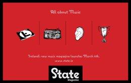 STATE音樂雜志平面廣告