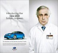 斯巴鲁08款Impreza翼豹平面广告设计欣赏