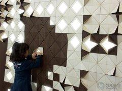 墙壁上的模块创意照明设计
