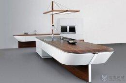创意厨台设计,齐整的帆船活灵活现。