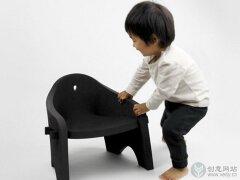 """创意座椅设计,""""一举两得""""的儿童家具。"""