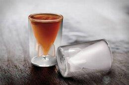 创意双层玻璃酒杯,适合度数高的酒使用。