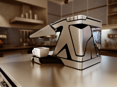 变形创意造型设计的咖啡机,美观现代