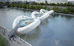 蹦床充气圈的蹦跳桥梁设计