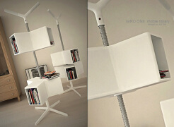可以调节高度的创意书架——书架设计