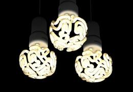 大脑形状的节能灯泡——灯泡创意