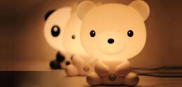 触控语音报时的卡通台灯——灯泡创意