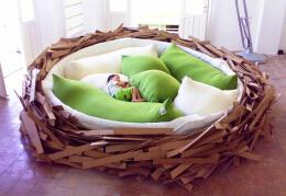 可睡在里面的巨大鸟巢——榻榻米床